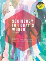Sociology in Today s World   with Student Resource Access 12 Months PDF