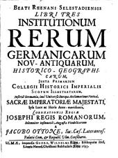 Libri tres institutionum rerum Germanicarum