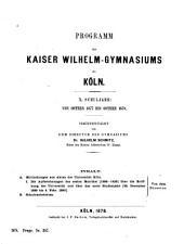 Mittheilungen aus akten der Universität Köln