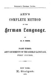 Ahn's Complete Method of the German Language