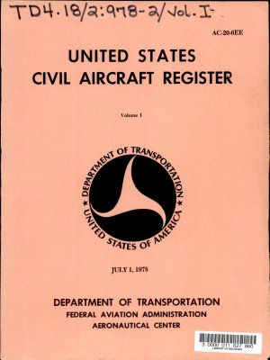 United States Civil Aircraft Register PDF