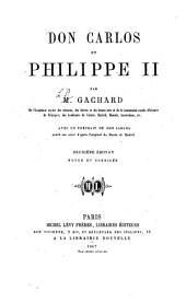 Don Carlos et Philippe II: Volumes1à2