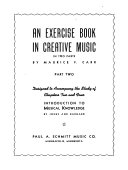An Exercise Book in Creative Music