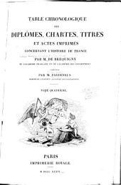 Table chronologique des diplomes: Année 1180-1213