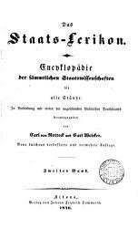 Das Staats Lexikon  Encyklop  die der s  mmtlichen Staatswissenschaften  herausg  von C  von Rotteck und C  Welcker PDF