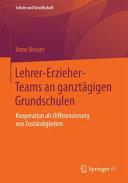 Lehrer Erzieher Teams an ganzt  gigen Grundschulen PDF