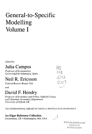 General-to-specific Modelling