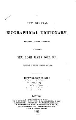 A New General Biographical Dictionary PDF