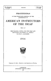 Proceedings of the Meeting of the Convention of American Instructors of the Deaf: Issue 20