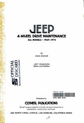 Jeep 4 wheel Drive Maintenance  All Models  1969 1975 PDF