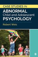 Case Studies in Abnormal Child and Adolescent Psychology PDF