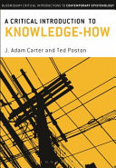 A Critical Introduction to Knowledge how