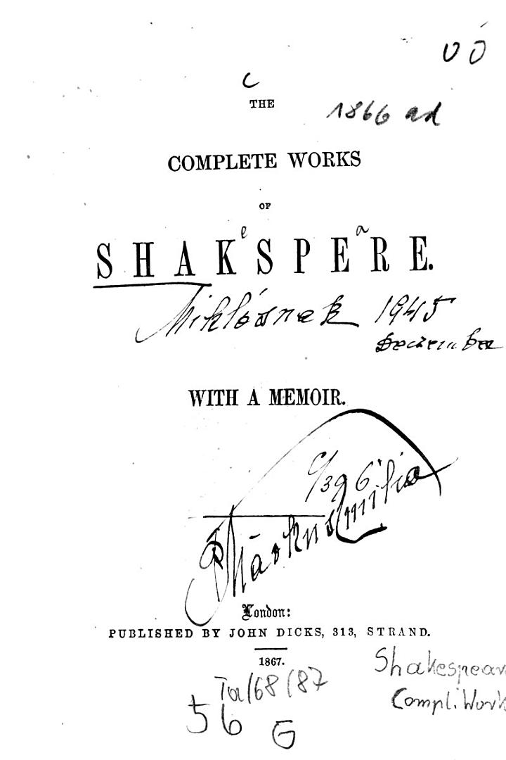 The Complete Works of Shakspere