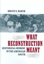 What Reconstruction Meant PDF