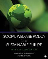 Social Welfare Policy for a Sustainable Future PDF
