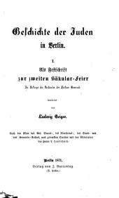 Geschichte der Juden in Berlin ...