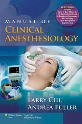 Manual of Clinical Anesthesiology