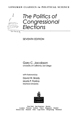 The Politics of Congressional Elections PDF