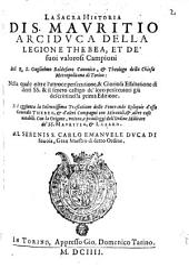 La Sacra Historia di S. Mauritio