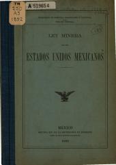 Ley minera de los Estados Unidos Mexicanos