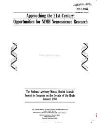 THE NATIONAL ADVISORY MENTAL HEALTH COUNCIL REPORT TO CONGRESS ON THE DECADE OF THE BRAIN PDF