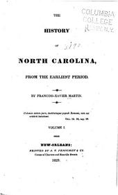 The history of North Carolina from the earliest period: Volume 1
