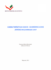 Caracter  sitcas socio econ  mica dos jovens Mo  ambique 2007 PDF