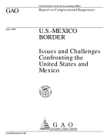 U S Mexico border issues and challenges confronting the United States and Mexico   report to congressional requesters PDF