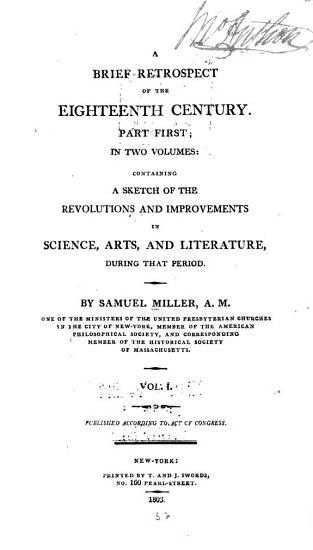 A Brief Retrospect of the Eighteenth Century PDF