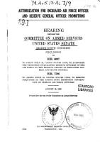 Authorization for Increased Air Force Officer and Reserve General Officer Promotions  Hearing  89 1  Aug  19  1965 PDF