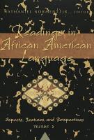 Readings in African American Language PDF