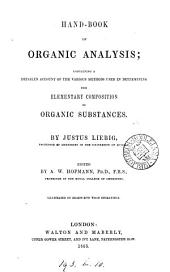 Hand-book of organic analysis. Ed. by A.W. Hofmann