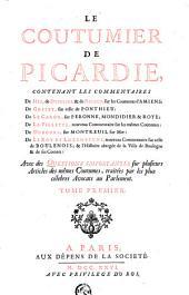 Le Coutumier de Picardie: Volume1