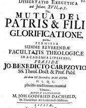 De mutua Dei Patris & Filii glorificatione