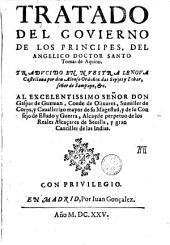 Tratado del govierno de los principes
