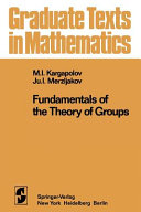 Fundamentals of the Theory of Groups