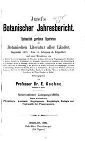 Just's Botanischer Jahresbericht: Band 17