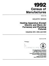 1992 Census of Manufactures: Industry series. Grain mill products, industries 2041, 2043, 2044, 2045, 2046, 2047, and 2048