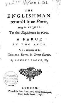 The Englishman Return d from Paris PDF