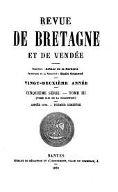 Revue de Bretagne, de Vendée & d'Anjou: Volume22
