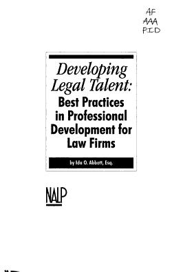 Developing Legal Talent PDF