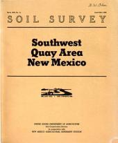 Soil Survey, Southwest Quay Area, New Mexico