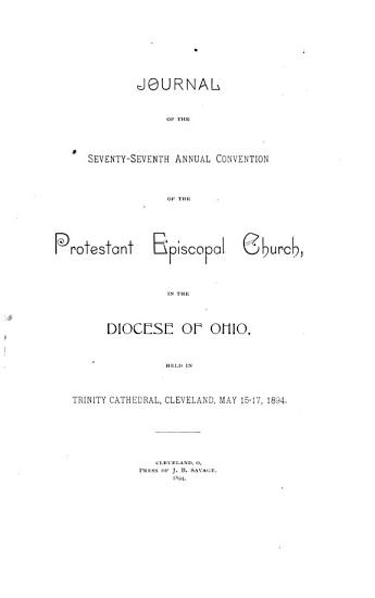 Journal of the Proceedings of the     Annual Convention of the Protestant Episcopal Church in the State  Diocese  of Ohio PDF