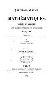 Nouvelles annales de mathématiques