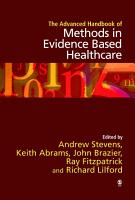 The Advanced Handbook of Methods in Evidence Based Healthcare PDF