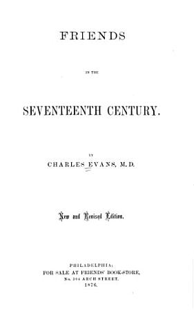 Friends in the Seventeenth Century PDF