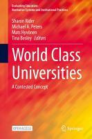 World Class Universities PDF