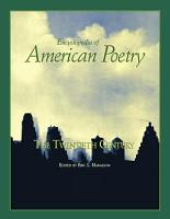 Encyclopedia of American Poetry  The Twentieth Century PDF