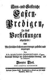Alte Leyer Auf Ein Neues angestimmet: Sinn und Geistreiche Fasten-Predigen, Band 2