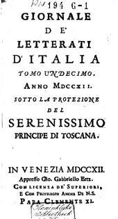 Giornale de' Letterati d'Italia: Volume 11